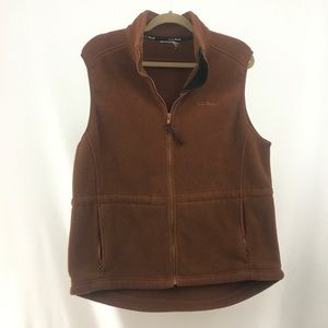 L.L. Bean Brown Zip Up Vest